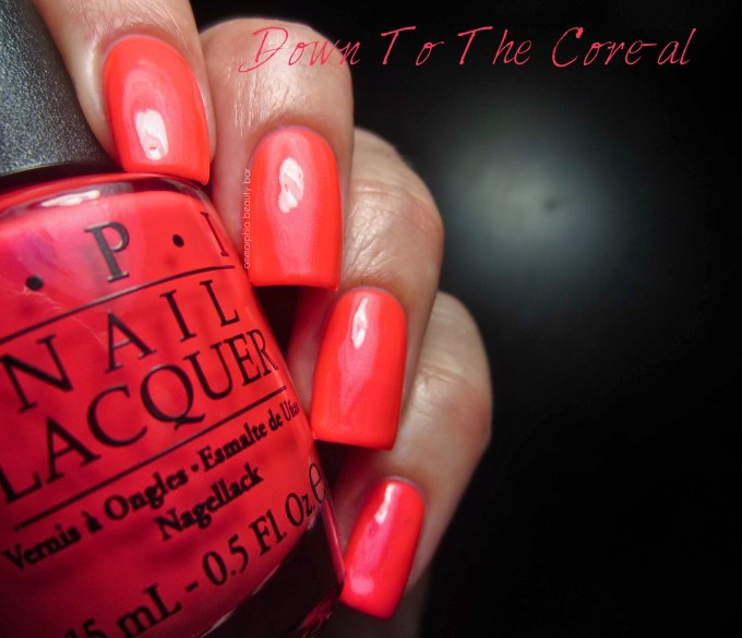 OPI Neons Down To The Core-al swatch