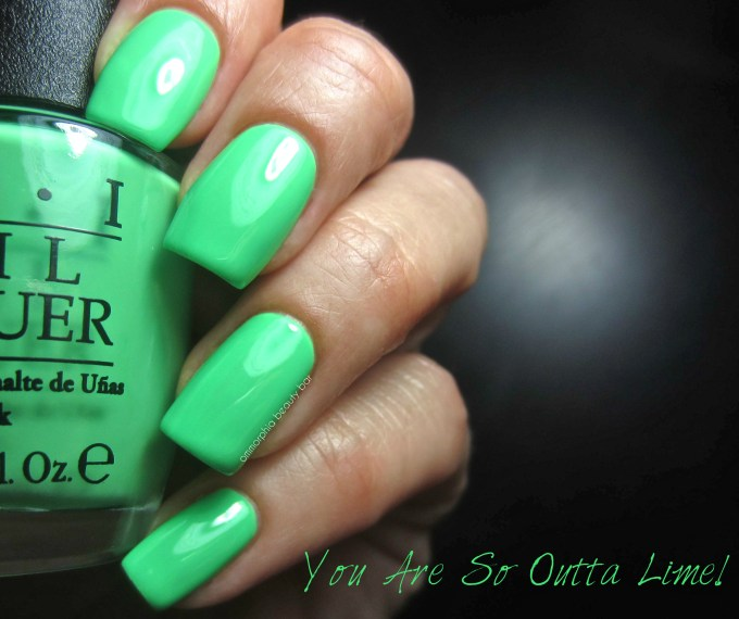 OPI Neons You Are So Outta Lime! swatch