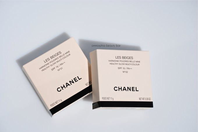 CHANEL Les Beiges Healthy Glow boxes