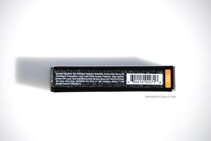 UD Gunmetal Glitter eyeliner ingredients