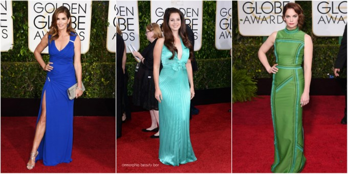Golden Globes 2015 Blue-Green collage