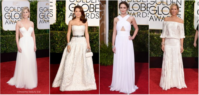 Golden Globes 2015 White collage