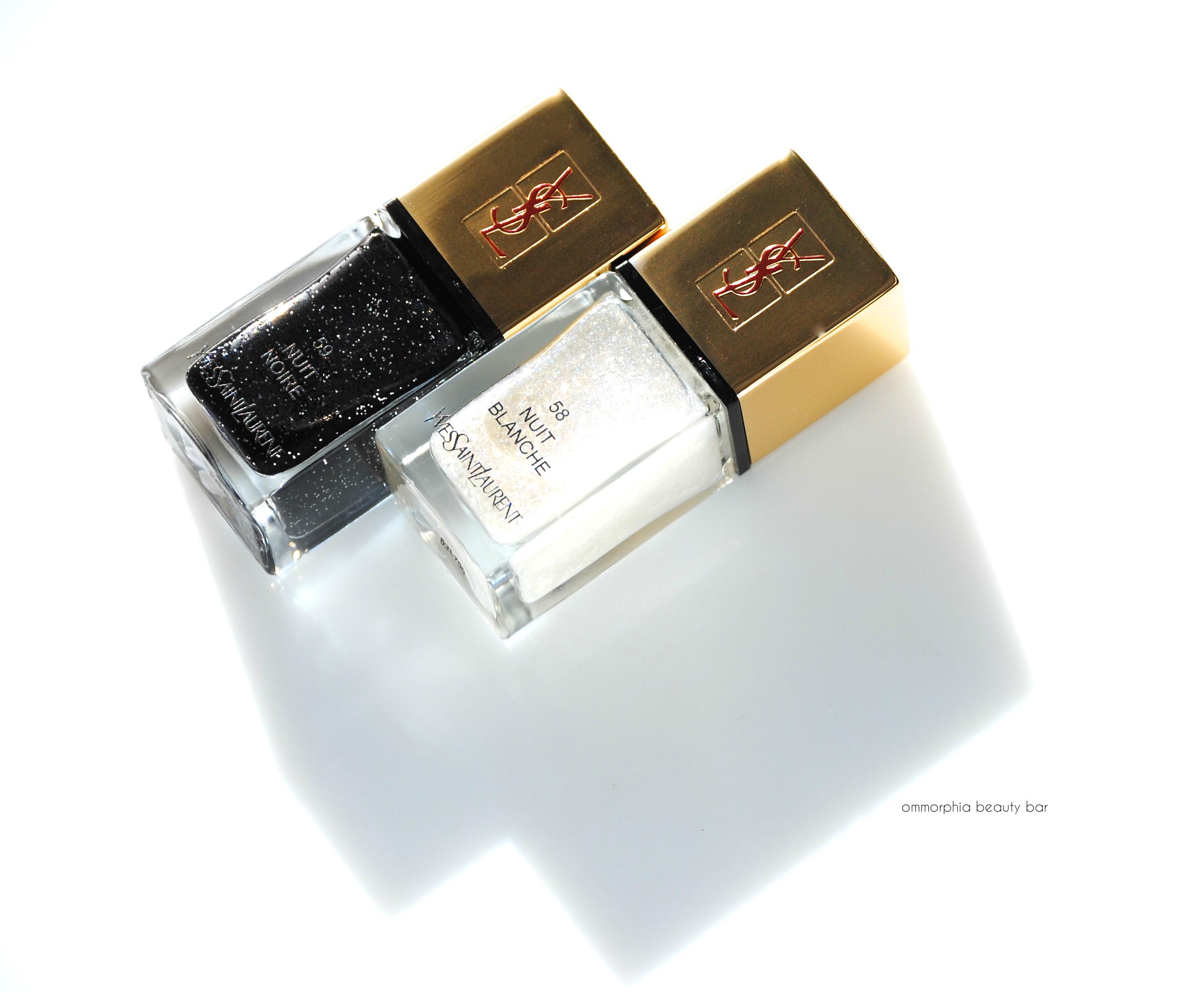 Ysl beaut la laque couture 58 nuit blanche 59 nuit noire ommorphia - Etagere blanche laque ...
