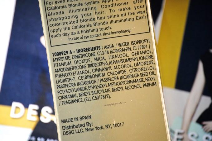 Dessange California Blonde Elixir ingredients