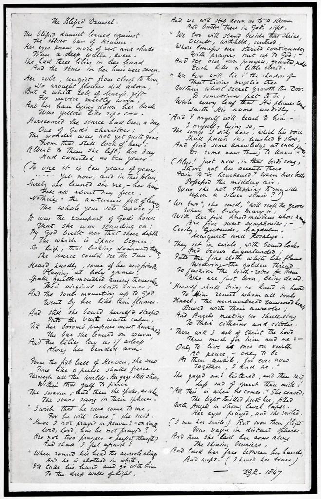 The Blessed Damozel poem