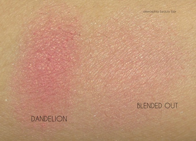 Benefit Cheekathon Dandelion swatches