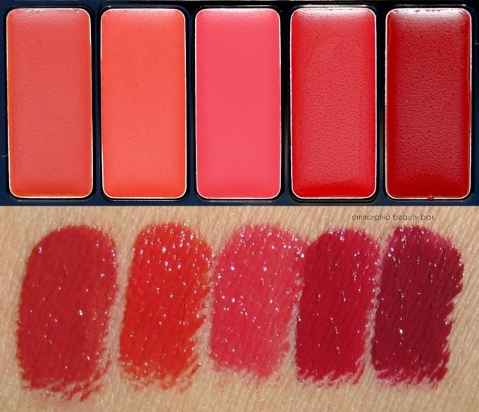 L'Oréal La Palette Lip Red macro