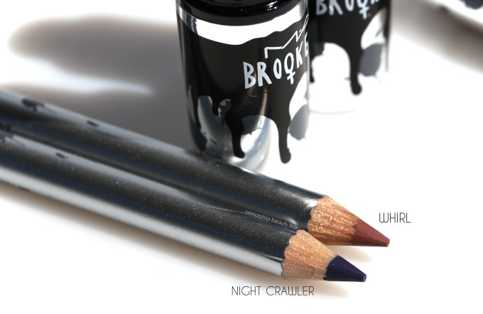 MAC Brooke Candy Whirl & Night Crawler Lip Pencils macro
