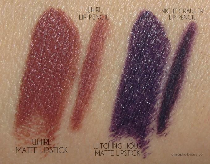 MAC Brooke Candy lipsticks & lip pencils swatches