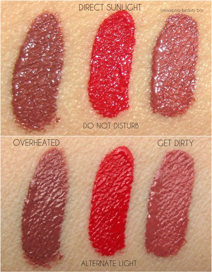 NARS Summer 2016 Lip Cover trio swatches