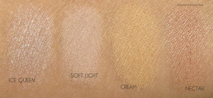 NYX Highlight & Contour palette top row swatches