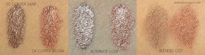 Clarins Summer 2016 Waterproof Eyeshadow swatches
