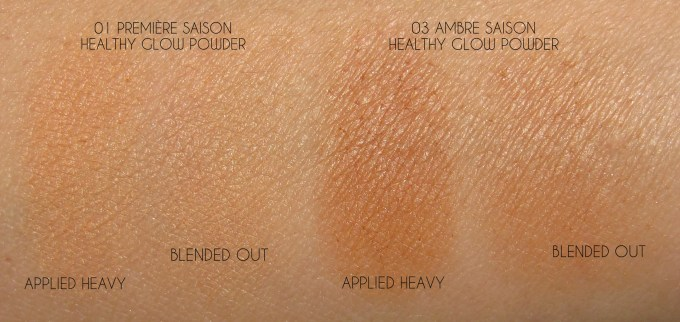 Givenchy Healthy Glow Powders swatches