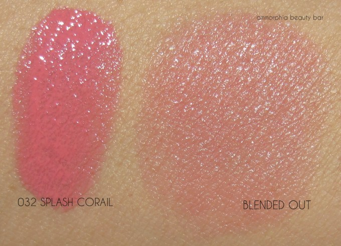 Lancome Splash Corail swatches