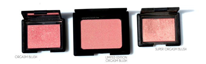 NARS LE Orgasm Blush & comps 2