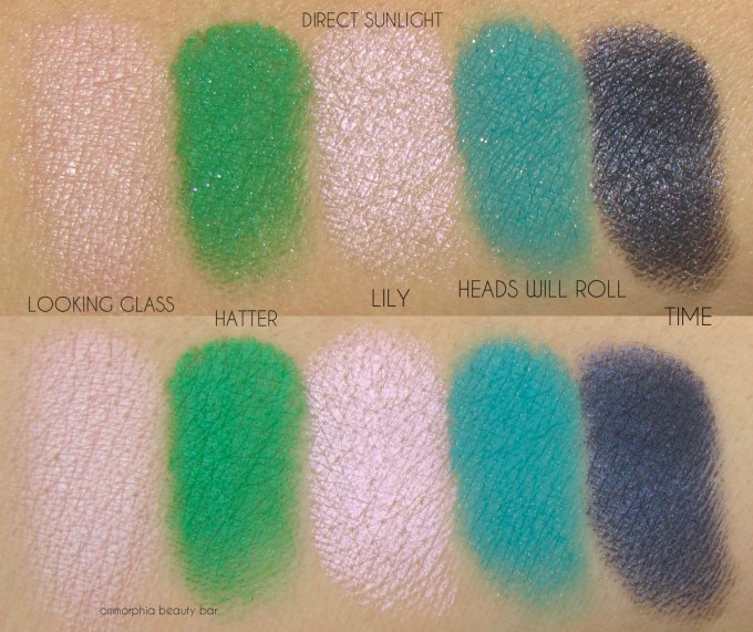 UD Alice Throught the Looking Glass row 1 swatches