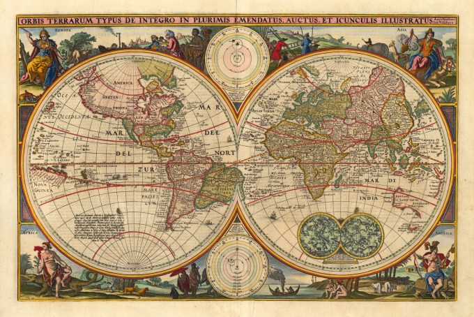 Antique World Map 1