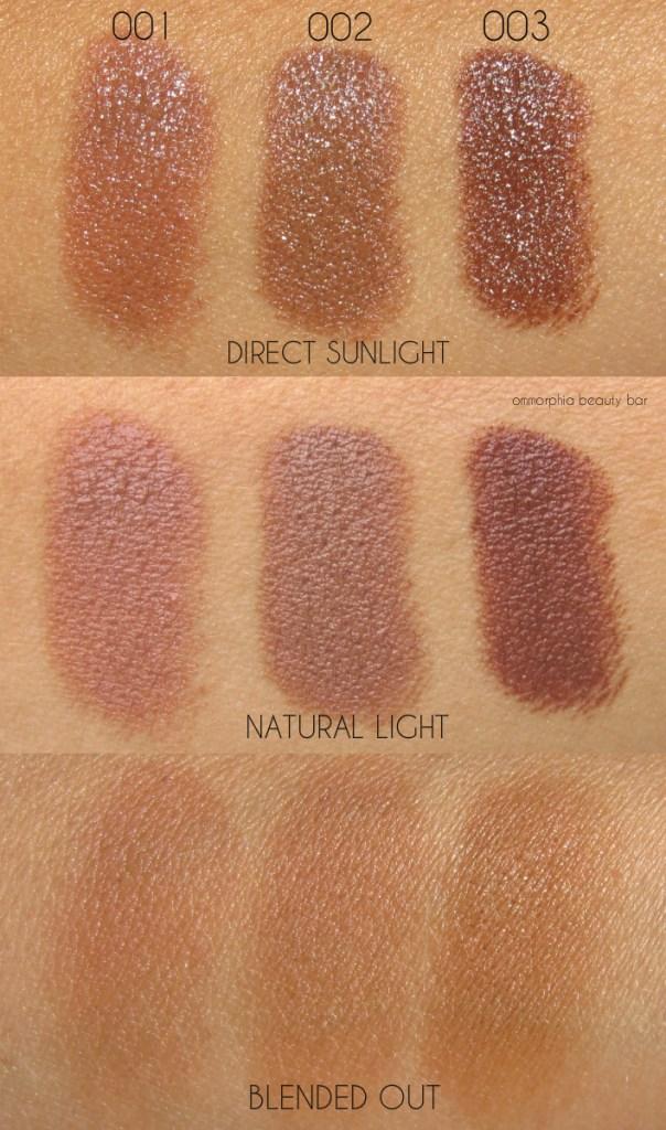 Dior Diorblush Light & Contour shadow trio swatches