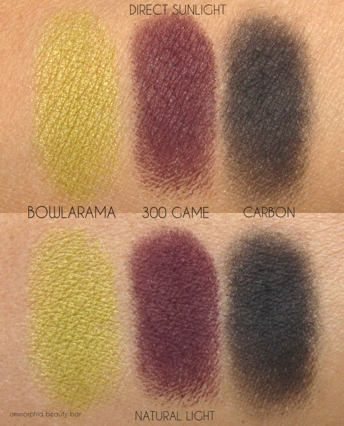 MAC It's A Strike eye shadow swatches