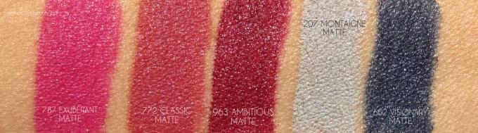 Dior Rouge Dior Matte arm swatches 1