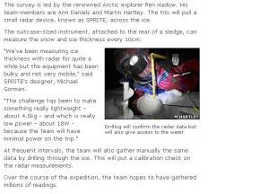 BBC on Catlin - detail