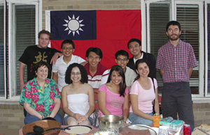 Gathering of English teachers and some students in Taiwan