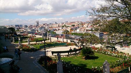 Lisbon Skyline From a Park