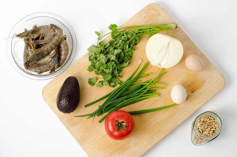 Avocado Shrimp Roll ingredients | Omnivore's Cookbook