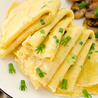 Egg and Green Onion Crepe
