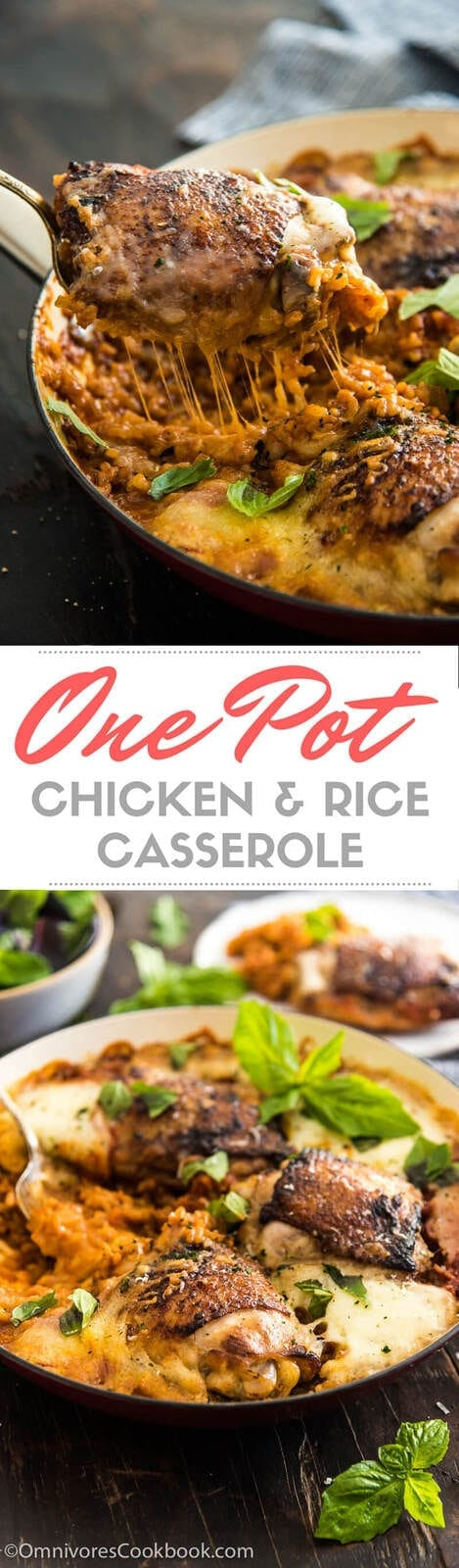 One Pot Chicken and Rice Casserole + Giveaway