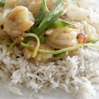 Red Thai Curry with Prawns