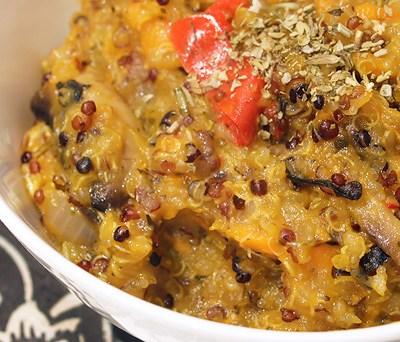 Sweet Potato Quinoa Risotto
