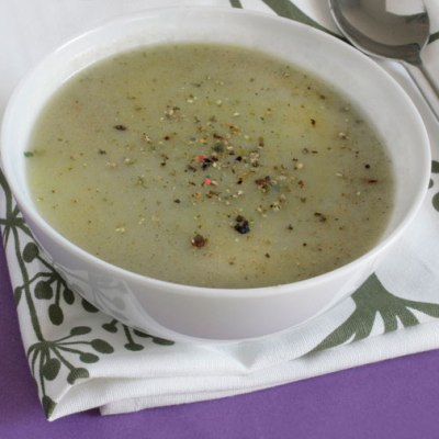 Lightly Curried Cruciferous Soup
