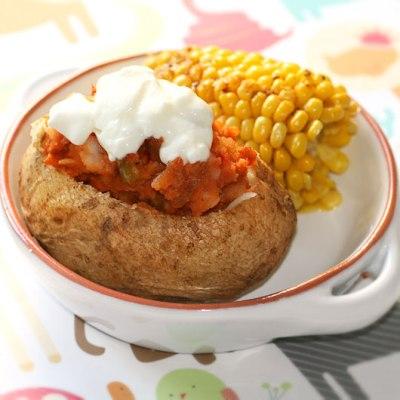 Chilli Stuffed Baked Potatoes + Bokashi Review