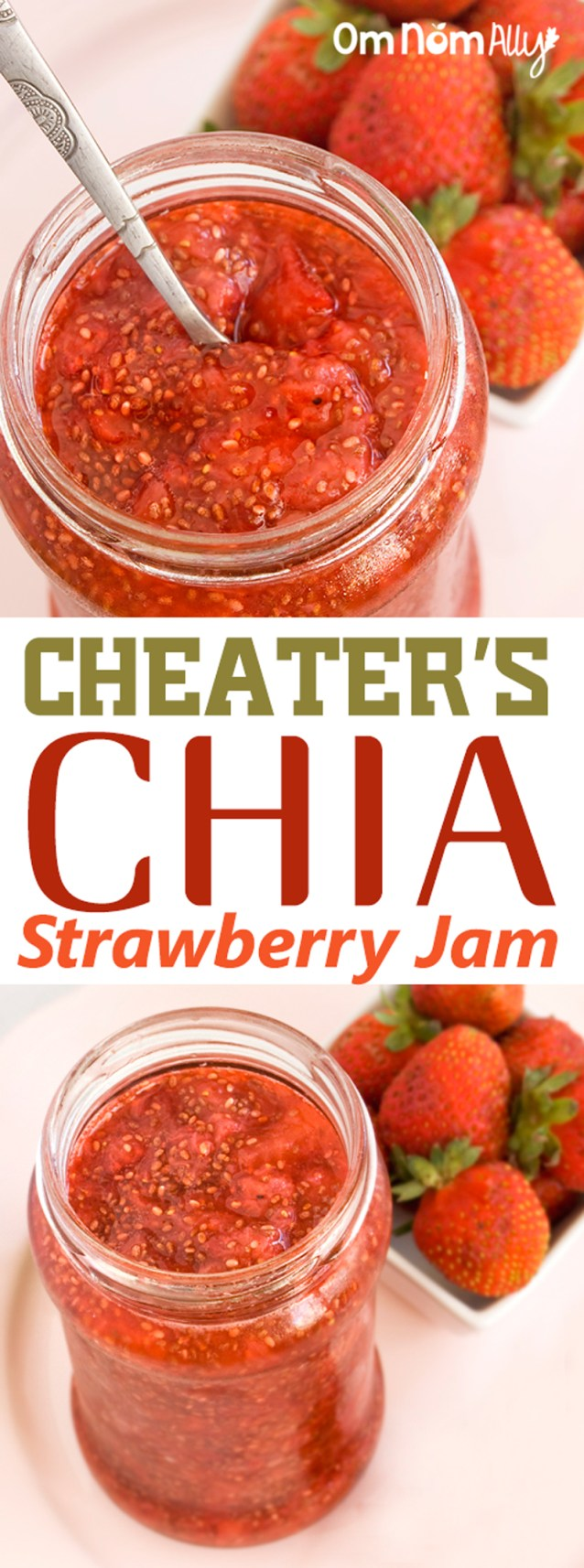 Cheater's Chia Strawberry Jam @OmNomAlly