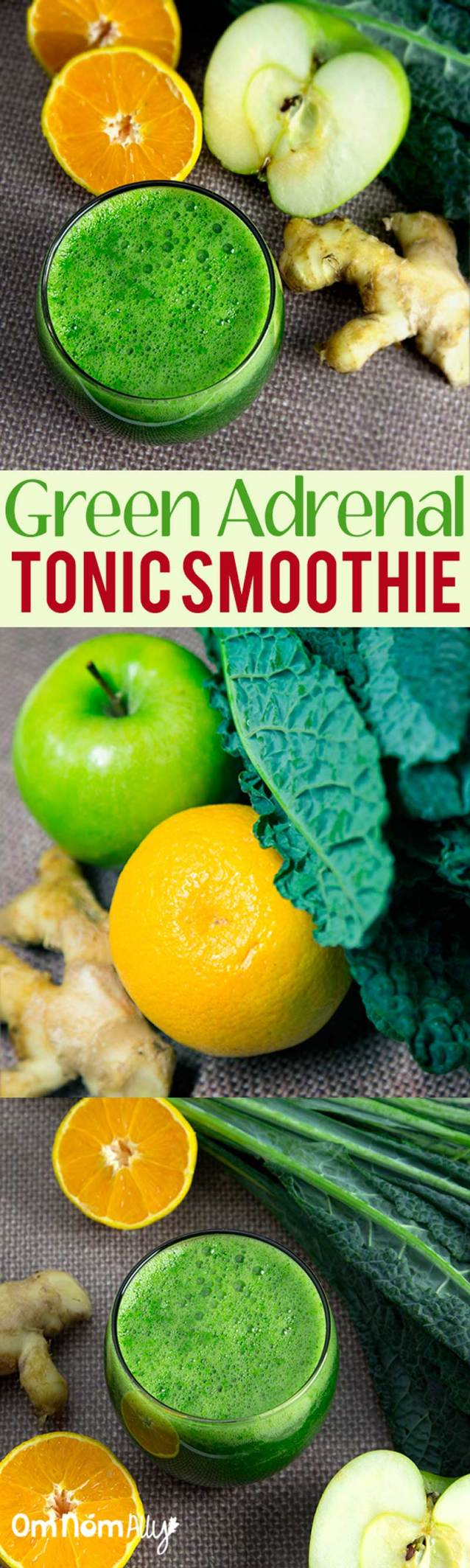 Green Adrenal Tonic Smoothie @OmNomAlly