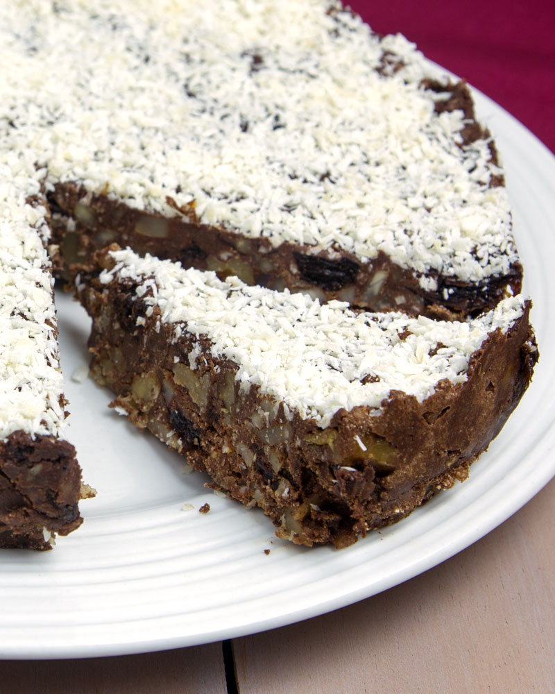 Raw Cacao & Coconut Panforte @OmNomAlly