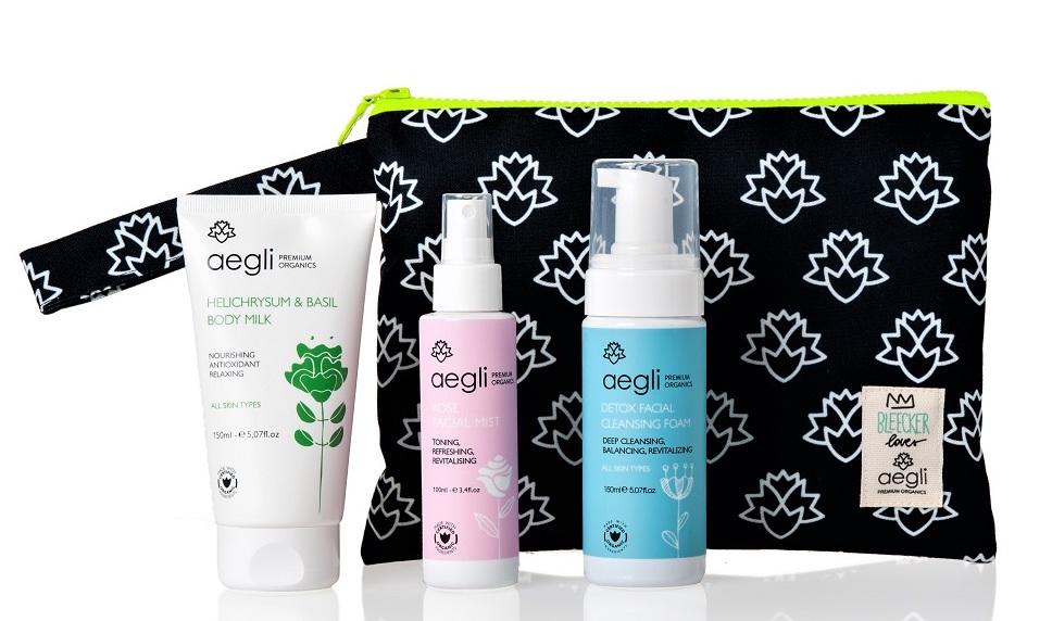 1.  ΒΕ ORGANIC- Aegli gift pouch