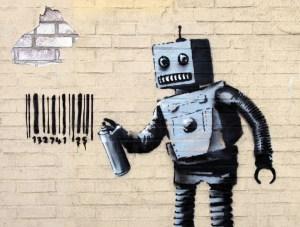 banksy-robot