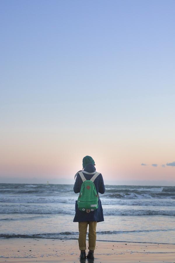 sunset portrait girl