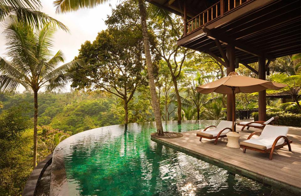 exotic retreat set in forrest, bali