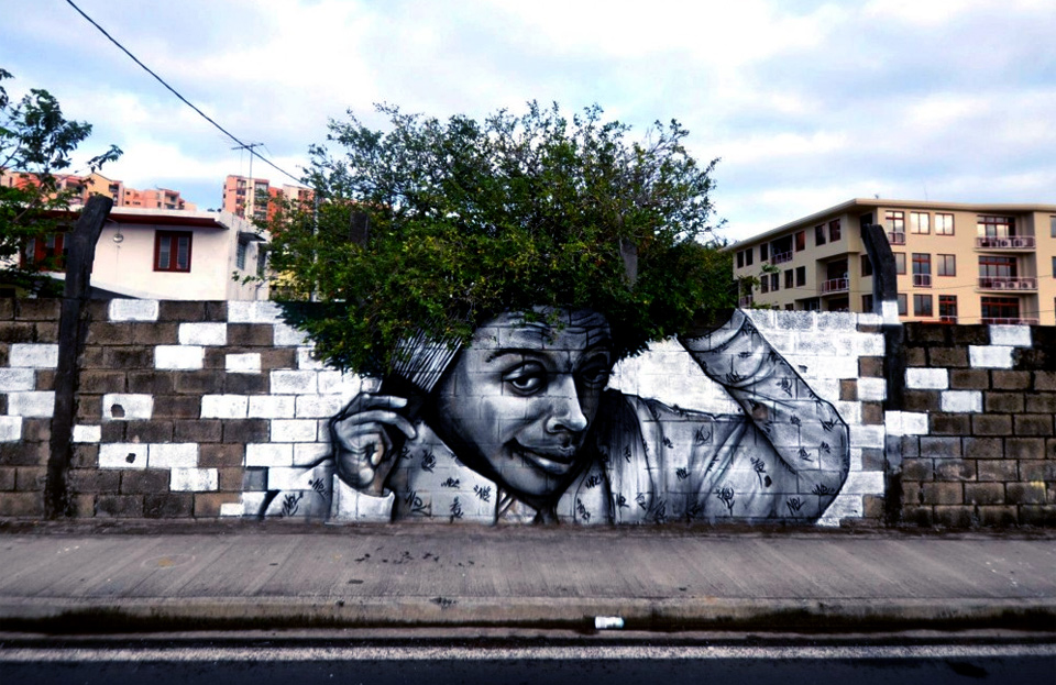 when graffiti meets nature