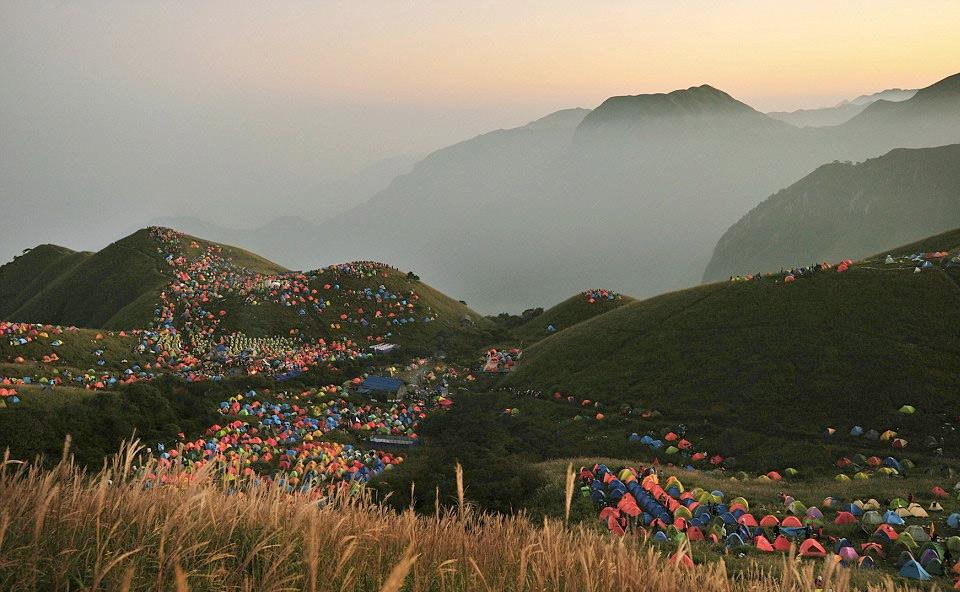 camping festival, china