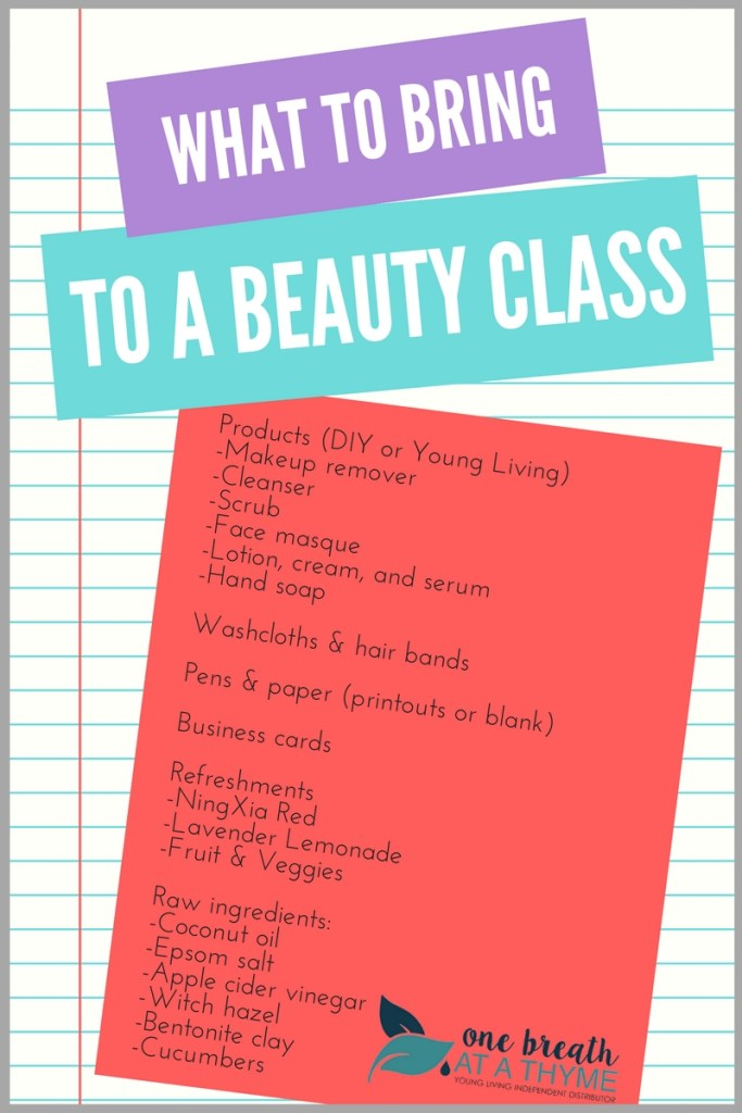 What to Bring to a Beauty Class
