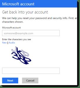 Password reset option test