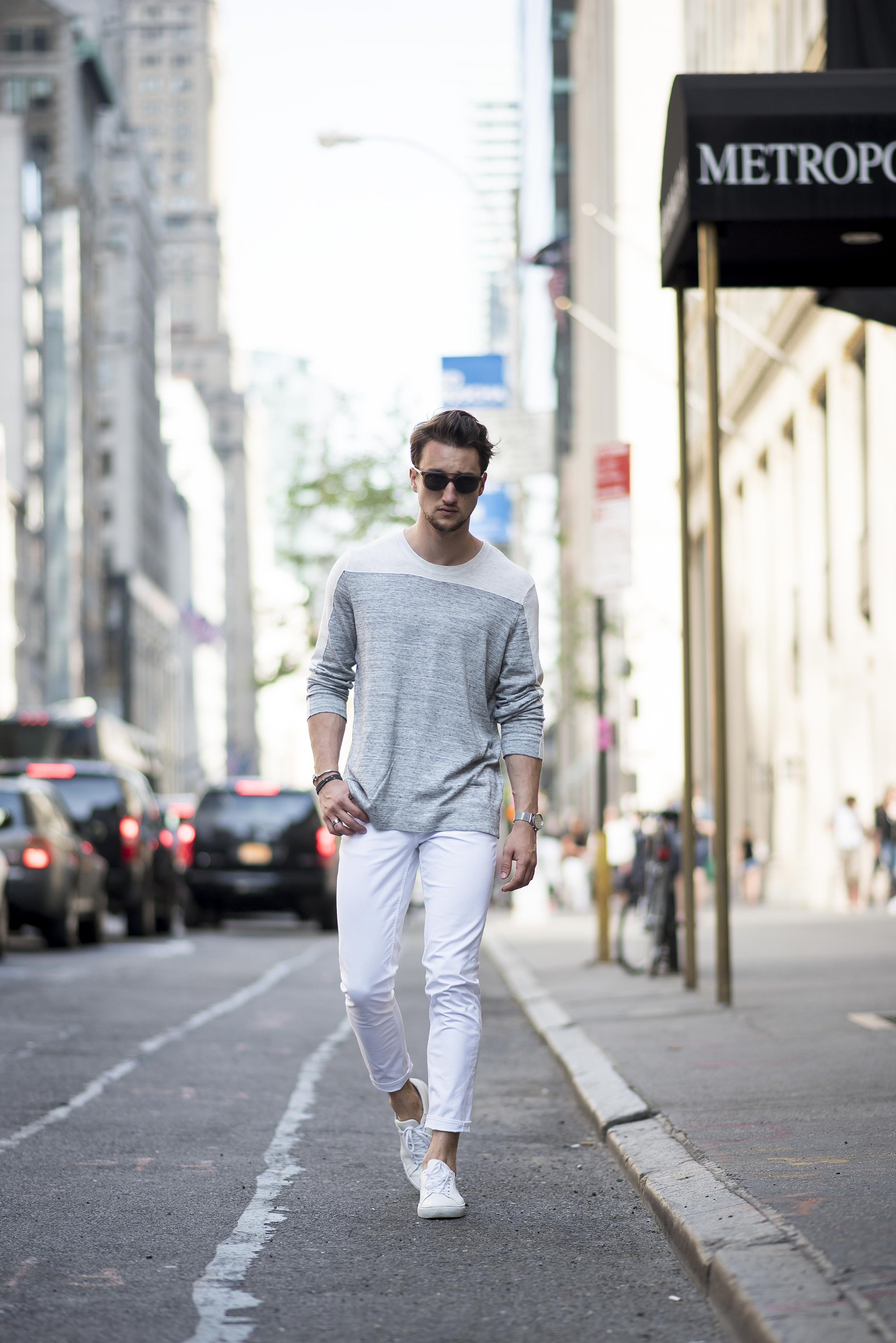How to 3 ways to wear white jeans for men | One Dapper Street