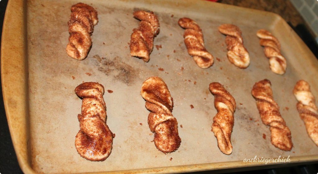 twists before baking