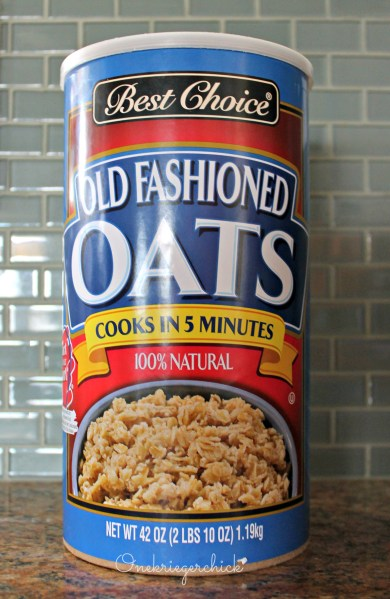 Before oatmeal container {Onekriegerchick.com}