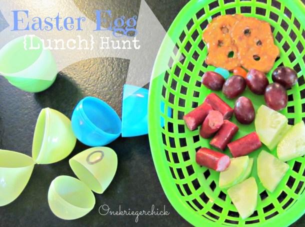Easter Egg Lunch Hunt {onekriegerchick.com}