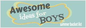 Boy bucket list